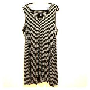 Style & Co Striped Sleeveless Dress